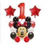 """1 - ojo gimtadienio balionų rinkinys """"Minnie Mouse"""""""
