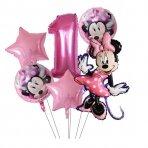 1 - ojo gimtadienio Minnie Mouse balionų rinkinys