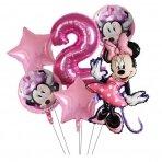 2 - ojo gimtadienio Minnie Mouse rinkinys