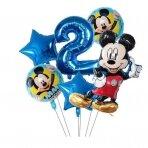 2 - ojo Mickey Mouse gimtadienio balionai