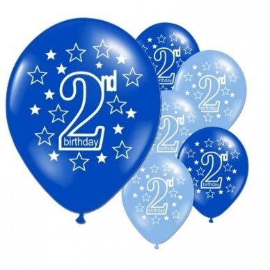 2 - ojo gimtadienio balionai, 10 vnt.