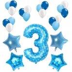 3 - ojo gimtadienio balionų rinkinys