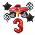 3 - ojo gimtadienio balionų rinkinys Blaze