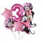 3 - ojo gimtadienio Minnie Mouse balionai