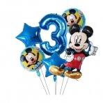 3 - ojo Mickey Mouse gimtadienio balionai