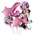 4 - ojo gimtadienio Minnie Mouse balionų rinkinys