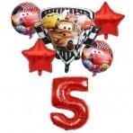 5- ojo Cars Makvyno gimtadienio balionų rinkinys