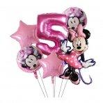 5 - ojo gimtadienio Minnie Mouse balionų rinkinys