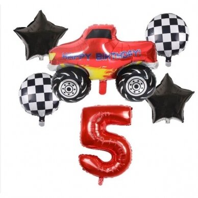 5 - ojo gimtadienio balionų rinkinys Blaze