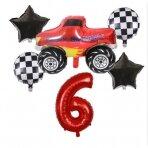 6 - ojo gimtadienio balionų rinkinys Blaze