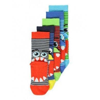 Berniukiškos kojinės Monstrai, 5 poros