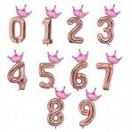 Balionas folinis skaičius (pasirenkams) su karūna