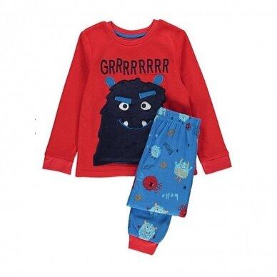 """Berniukiška šilta pižama """"Monstriukas"""""""