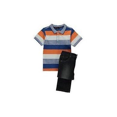 Berniukiškas 2 dalių komplektas: marškinėliai ir džinsai