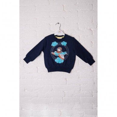 Berniukiškas džemperis su lėktuvėliu