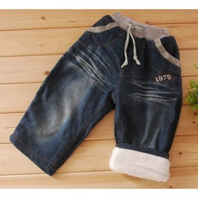 Berniukiški džinsai su pašiltinimu