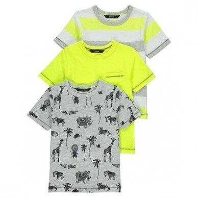 Berniukiški marškinėliai trumpom rankovėm, 3 vnt.