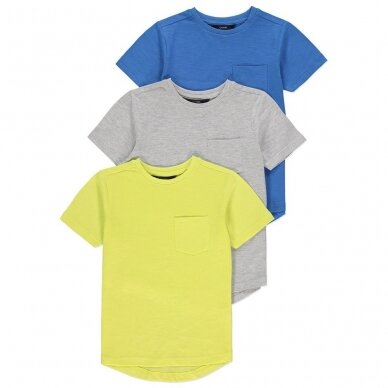 Berniukiški vasariniai marškinėliai, 3 vnt.