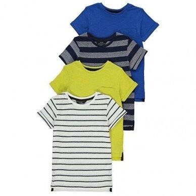 Berniukiški vasariniai marškinėliai, 4 vnt.