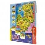 Dėlionė Baltijos šalių žemėlapis 120 det. +28 mokomosios kortelės