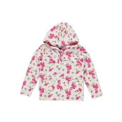 Flysinis mergaitiškas džemperis Gėlės