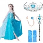 Frozen suknelė su šleifu (su aksesuarais)