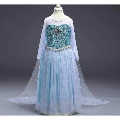 Frozen Elza suknelė su šleifu