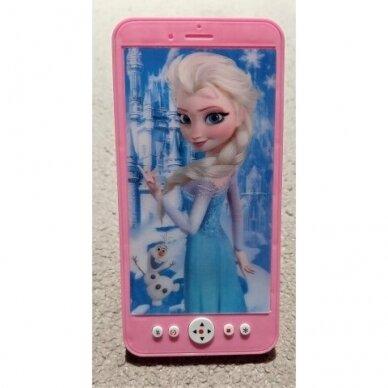 Frozen grojantis telefonas