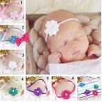 Galvos juostelės su gėlėm mažiausioms mergytėms
