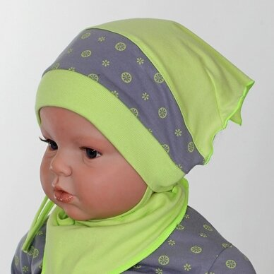 """Kepurė - skarelė """"Citro"""""""
