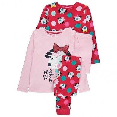 Mergaitiška pižama, 2 vnt.