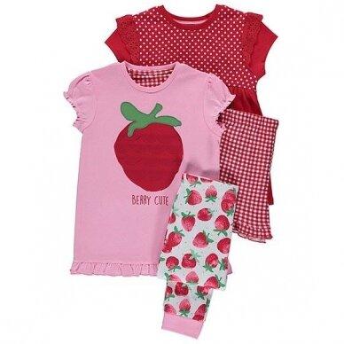 Mergaitiška vasarinė pižama, 2 vnt.