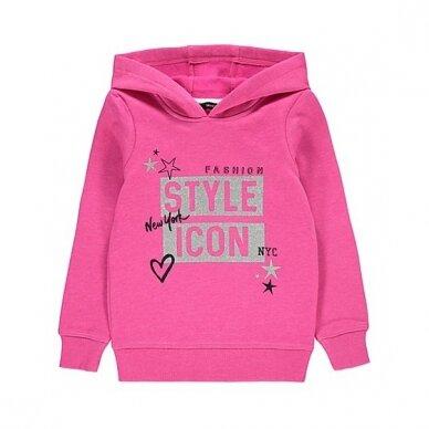 """Mergaitiškas džemperis """"Stiliaus ikona"""""""