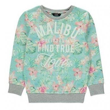 Mergaitiškas gėlėtas džemperis