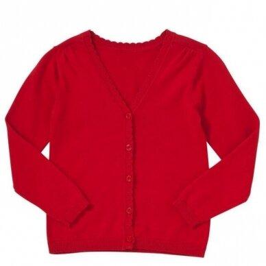 Mergaitiškas užsagstomas megztinis