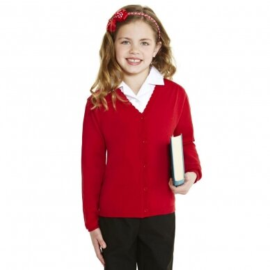 Mergaitiškas užsagstomas megztinis 3