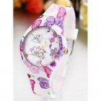 Moteriškas laikrodis Geneva su drugeliais