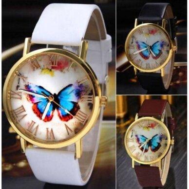 """Moteriškas laikrodis """"Mėlynas drugelis"""""""