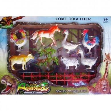Naminiai gyvūnai su dėže