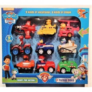PAW PATROL transporto priemonių rinkinys, 9 vnt. 5