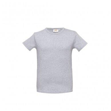 Pilki marškinėliai trumpom rankovėm