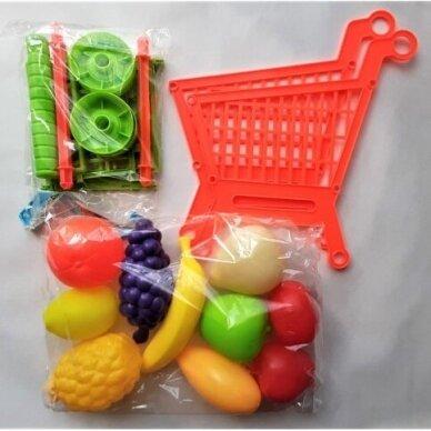 Pirkinių vežimėlis su vaisiais 2