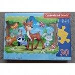"""Puzzle """"Bembis ir draugai"""", 30 dalių"""