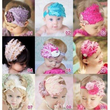 Puošnus mergaitiškas galvos aksesuaras