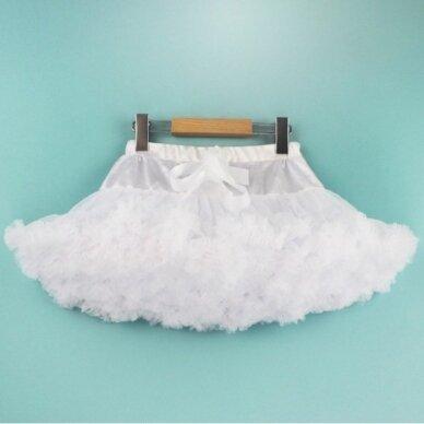 Pūstas Tutu Pettiskirt baltas sijonas