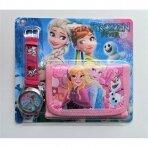 """Rinkinys: laikrodis ir piniginė """"Frozen"""""""