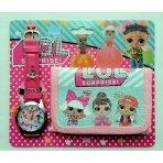 Rinkinys: laikrodis ir piniginė LOL