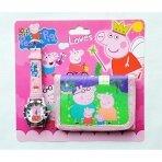 """Rinkinys: laikrodis ir piniginė """"Peppa Pig"""""""