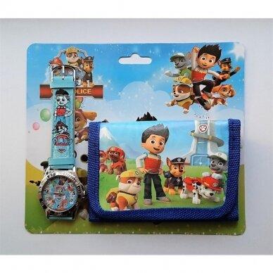 """Rinkinys: laikrodis ir piniginė """"Paw patrol"""""""