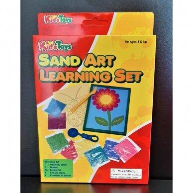 Rinkinys piešimui spalvotu smėliu